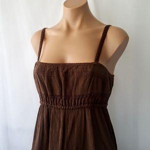 Old Navy brown summer dress sz med